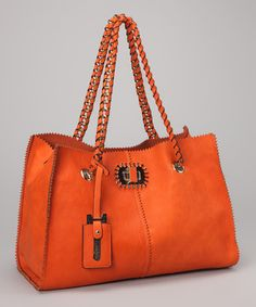 Take a look at this Orange Chain-Link Tote by Bali Belts Studio on #zulily today!