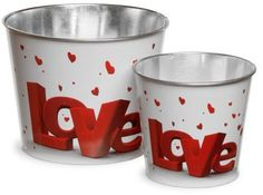 National Tree Company Valentine Motif Tin Pots Red/White 2pk  #Promotion… #PaidAd #ad #affiliatelink