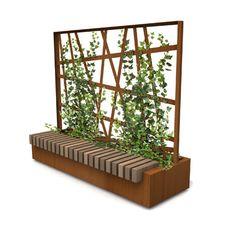 Plantenbak met hedera klimplanten toepasbaar als balkon of terras afscheiding of tuinhekken in - Modern tuinbekken ...