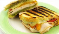 Fire Roasted Yellow & Red Pepper Grilled Turkey Sandwich