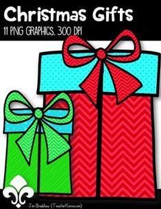 Free Christmas Gifts Clip Art ~ Holiday Presents