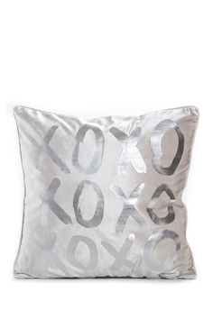 """XOXO Silver Throw Pillow - 18"""" x 18"""" by Oliver Gal Gallery on @nordstrom_rack"""