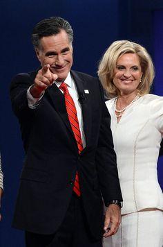 Mitt Romney and Ann after the debate: GOTCHA!