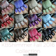 KBShimmer Fall 2016 Collection: Swatches  Review  Casual Contrast Wow Nails, Nails Only, Fall 2016, Beauty Secrets, Class Ring, Swatch, Contrast, Manicure, Nail Designs