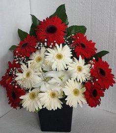 Kırmızı Beyaz Gönlüm 59,32 TL+Kdv Kırmızı Beyaz Gerbera Çiçek Ürün Kod NzA 262 Ürünü Satın Almak isityorsanız resimin üstüne tıklayın..