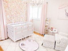 Ali Fedotowsky's daughter's nursery- Including the wall featuring thousands of silk roses