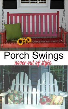 Porch Swings - Never Out of Style Modern Kitchen Wall Decor, Rooster Kitchen Decor, Fall Kitchen Decor, Best Bathroom Colors, Bohemian Bedroom Decor, Porch Decorating, Decorating Tips, Centerpiece Decorations, Home Trends
