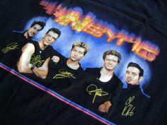 NSync 2000 T-Shirt Vintage XL NEW Black Justin Timberlake Joey Fatone Lance Bass