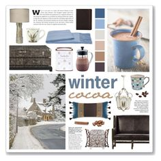 """""""Winter Cocoa"""" by mintycreation ❤ liked on Polyvore featuring interior, interiors, interior design, home, home decor, interior decorating, a&R, Jamie Young, Croscill and Denby"""