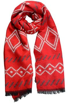 7154303f8b058 Women Warm Plaid Winter Scarf Gorgeous Blanket Wraps Cape Shawl Red *** You  can