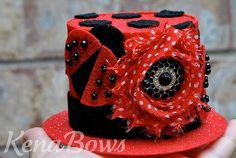 Lil Lady Bug  Mini Top Hat/Headband  Costume Birthday  by KenaBows, $28.50