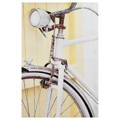 Tableau imprimé vieille bicyclette