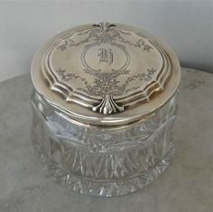 Sterling Silver Dresser Jar from my Grandmother's in Oklahoma..found the match in London on Portabella Road!!