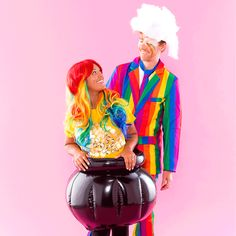 How to Make a Rainbow + Pot of Gold Costume With Your Boo