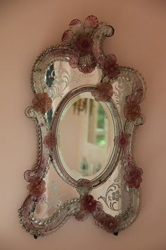 Pink Venetian mirror...ornate and gorgeous