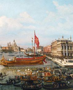 Francesco Zanin - The departure of the Bucintoro from San Marco to San Nicoló del Lido