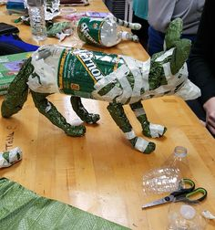 Paper mache next..Fox Art ed central 8th grade