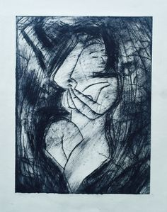 "Linn Sundqvist ""Dreaming"" Monoprint on paper"