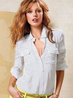 Silk Button-down Shirt #VictoriasSecret http://www.victoriassecret.com/clothing/shirts-and-blouses/silk-button-down-shirt?ProductID=105923=OLS?cm_mmc=pinterest-_-product-_-x-_-x