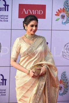 Ever green Sridevi at IFFI Rekha Saree, Lehanga Saree, Saree Dress, Sabyasachi, Christian Bridal Saree, Saree Jewellery, Kids Frocks Design, Drape Sarees, Saree Blouse Neck Designs