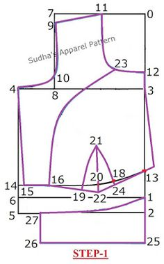 Sudha's Apparel Patterns: How to make One Piece Katori Blouse with sleeve?