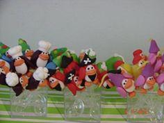 Mini colher Club Penguin em biscuit. mínimo de 15 unidades. R$ 1,50