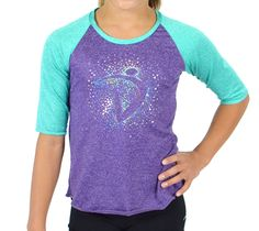 Made with a super light and stretchy heathered spandex, and of course some sparkle, this tee will be your new go- to favorite! Fall Collections, Dna, Gymnastics, Tank Man, Lavender, Tank Tops, Luxury, Tees, How To Wear