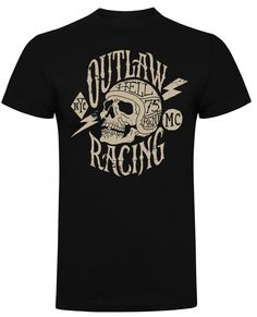Hell Bent Outlaw Racing T-Shirt (Black) Outlaw Racing, Kustom Kulture, Motorcycle, Hot, Mens Tops, T Shirt, Clothes, Black, Fashion