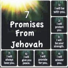 I Will Protect You, Give It To Me, Love You, Graven Images, Encouraging Thoughts, Do Not Be Afraid, Jehovah's Witnesses, Now And Forever, I Promise