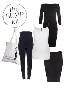 The Seraphine Bump Kit: 4 mix and match maternity styles to make up the fashion core of your pregnancy wardrobe.