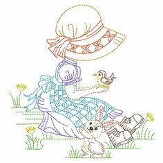 Embroidery Monogram, Hand Embroidery Patterns, Custom Embroidery, Embroidery Applique, Machine Embroidery Designs, Quilt Patterns, Machine Applique, Color Me Beautiful, Sunbonnet Sue