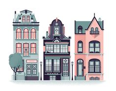 Row Houses by Nick Matej on Behance.