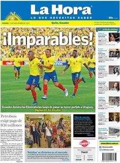 """Buenos días estimados amigos/as.Los dejamos con nuestra portada de hoy, viernes 13 de noviembre de 2015. Tema destacado:  """"Ecuador imparable""""."""