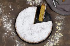 Rezept für einen saftigen mallorquinischen Mandelkuchen nach Tim Mälzer Rezept. Der Kuchen enthält wenig Mehl, viel gemahlene Mandeln