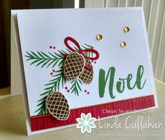 Stampin' Seasons: Stampin' Up! Christmas Pines, Pretty Pines thinlits by Linda Callahan