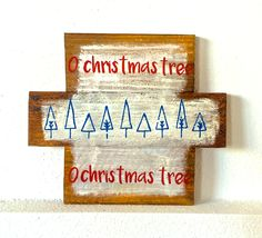 Merry Christmas hand made sign, christmas tree sign, christmas tree, christmas decor, christmas decorations, merry christmas sign by THERUSTICBEACHHOUSE on Etsy