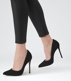 Womens Black Point-toe Court Shoes - Reiss Mae