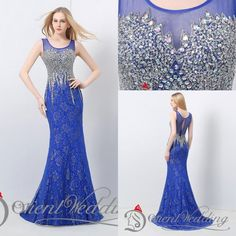 Designer Clothing Real Picture Designer Occasion Dresses Luxury Unique Crystal Floor Length Sheer Lace Mermaid Formal Evening Dresses Beaded Prom Dresses Designer #Prom Dresses# From Davidbridal, $131.04| Dhgate.Com