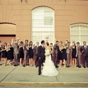 cute shot of entire bridal party