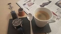 Coffee and luxury watch. Made in France.