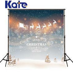 kate merry christmas backdrops photography snow spot milu deer elk background photo sled dream wall fotografia