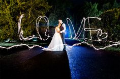 Newcastle wedding photography of couple with sparklers
