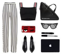 """Office life"" by baludna ❤ liked on Polyvore featuring Balenciaga, Acne Studios, Nicholas, Chiara Ferragni, Illesteva and Lord & Berry"