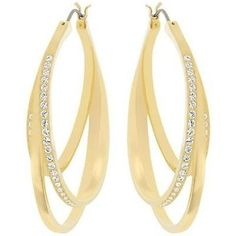 Pre-owned Swarovski Spiral Pierced Earrings - 5083119 ($115) ❤ liked on Polyvore featuring jewelry, earrings, accessories, none, preowned jewelry, pre owned jewelry, swarovski earrings, spiral earrings and swarovski jewellery