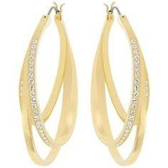 Pre-owned Swarovski Spiral Pierced Earrings - 5083119 ($115) ❤ liked on Polyvore featuring jewelry, earrings, accessories, joias, jewelry - earrings, none, earrings jewelry, preowned jewelry, swarovski jewellery and pave earrings