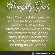 Only God can give us peace