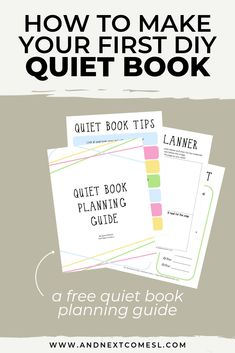 Find out how to make your first quiet book with awesome tips then browse tons of quiet book page ideas and patterns. Don't forget to grab a copy of the free planning guide so that you can make an awesome busy book in no time! Diy Quiet Books, Baby Quiet Book, Felt Quiet Books, Quite Book Patterns, Pattern Making Books, Sensory Book, Baby Sensory, Quiet Book Templates, Toddler Books