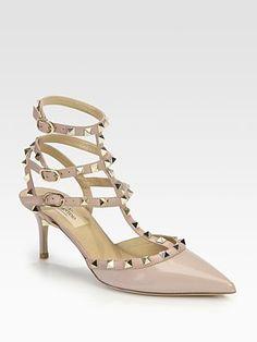 Obsessed   Valentino - Patent Leather Rockstud Slingback Pumps   Saks Fifth Avenue