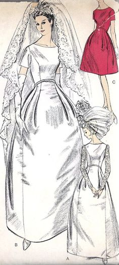 A classic 1960s wedding dress by William Cahill, and gorgeous ...