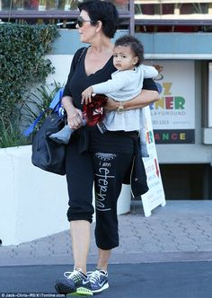 Granny and baby time: Kim is lucky to have her mother, Kris Jenner, at home in Los Angeles to look after her daughter North while she is away Kardashian Style, Kardashian Jenner, Kourtney Kardashian, Black Celebrities, Beautiful Celebrities, Beautiful People, Kendall And Kylie Jenner, Kris Jenner, North West Kim Kardashian